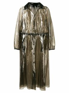 Marine Serre sheer midi coat - Grey