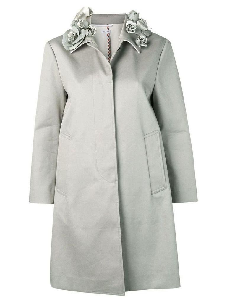 Thom Browne rose collar coat - Grey