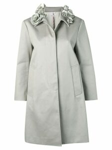 Thom Browne rose collar coat - Grey