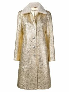 Bottega Veneta metallic button coat - Gold