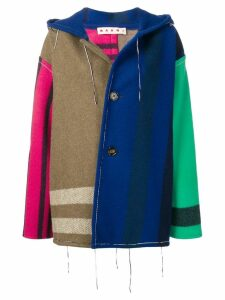 Marni patchwork coat - Green
