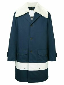 Ports V shearling trim coat - Blue