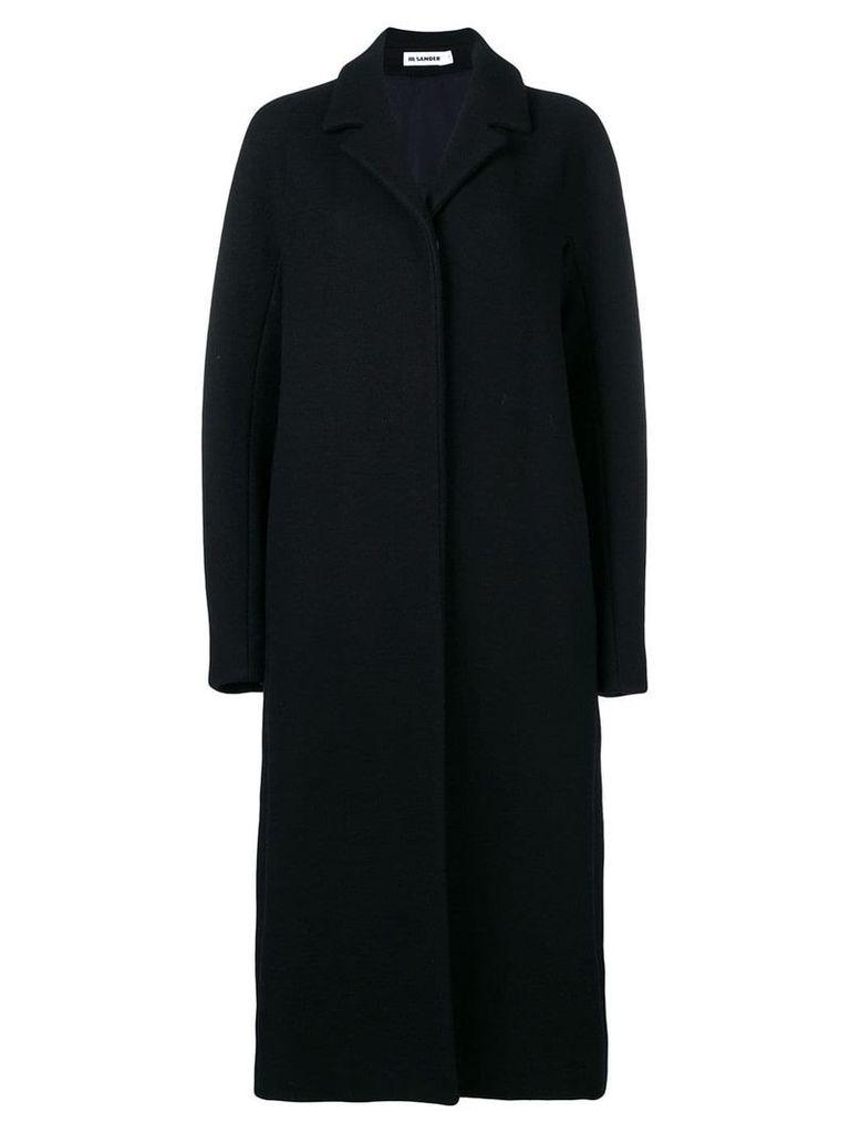 Jil Sander concealed fastening coat - Blue