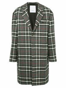 Ports V plaid oversized coat - Grey