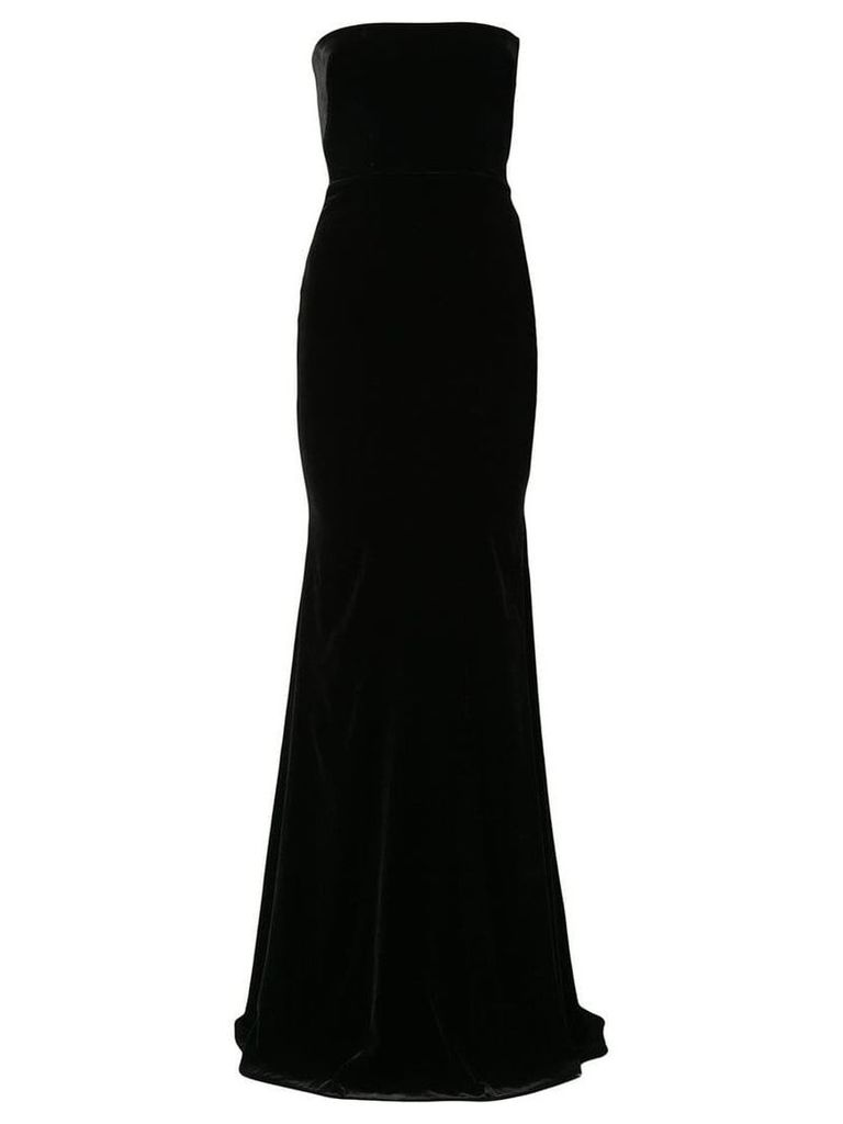 Alex Perry velvet empire line dress - Black