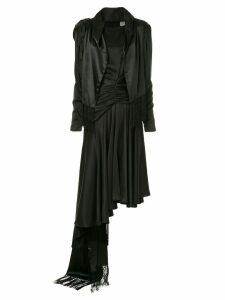 Preen By Thornton Bregazzi ruched asymmetric dress - Black