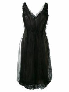 Prada tulle jersey dress - Black