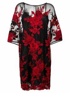 Antonio Marras floral pattern sheer dress - Black