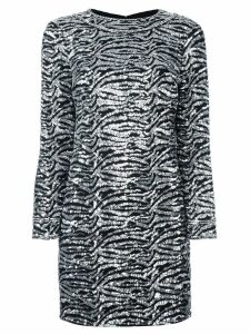 Saint Laurent sequin embellished shift dress - Black