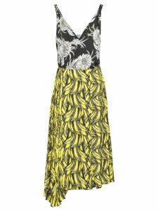 Prada banana-print midi dress - Yellow