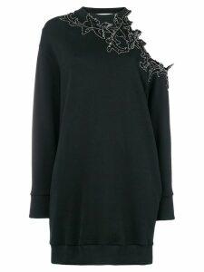 Christopher Kane sequin flower sweater dress - Black
