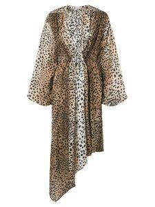 Christopher Kane cheetah bow dress - Neutrals