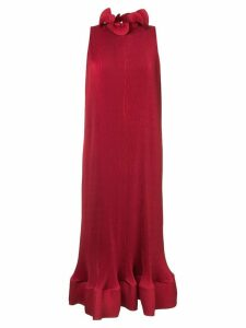 Tibi pleated sleeveless dress - Red