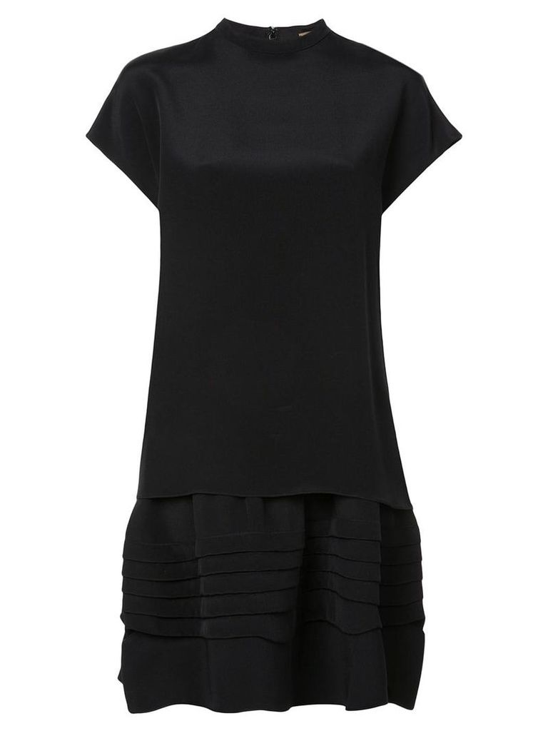 Adam Lippes short-sleeve flared dress - Black