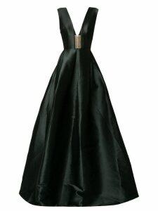 Alex Perry deep V-neck dress - Black