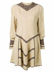 Isabel Marant short flared dress - Neutrals