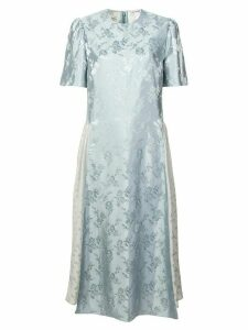 Stella McCartney jacquard midi dress - Blue