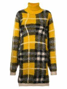 Y/Project tartan turtleneck dress - Yellow