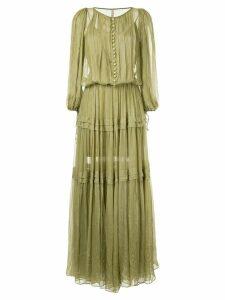 Maria Lucia Hohan buttoned maxi dress - Gold