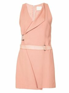 Dion Lee holster mini wrap dress - Pink