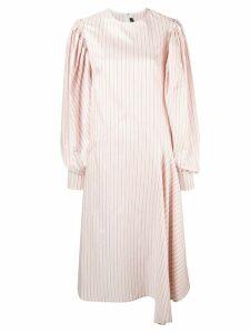 Calvin Klein 205W39nyc striped midi dress - White