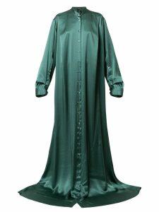 Ann Demeulemeester long button-up dress - Green