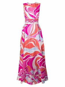 Emilio Pucci Rivera Print Silk-Twill Evening Dress - Pink