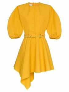 Marques'Almeida Asymmetric Belted Mini Dress - Yellow