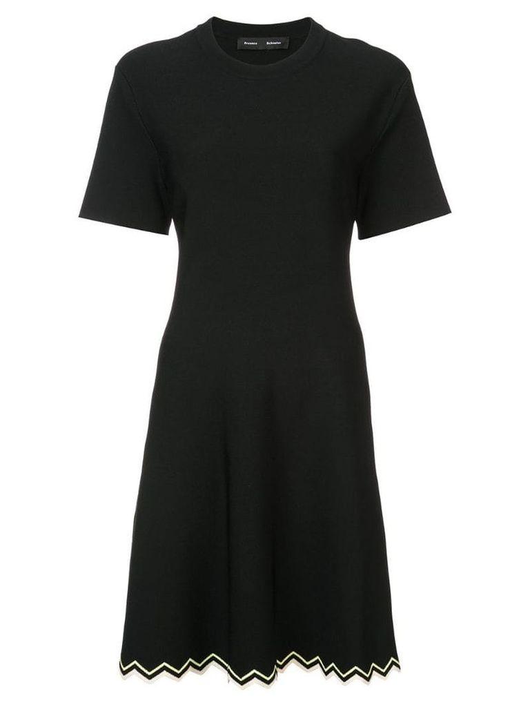 Proenza Schouler Zig Zag Knit Dress - Black
