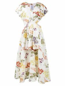 Rosie Assoulin floral print cutout dress - White