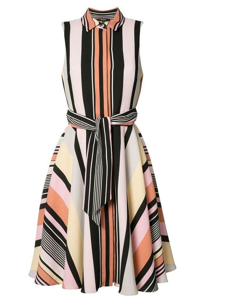 Badgley Mischka striped shirt dress - Multicolour