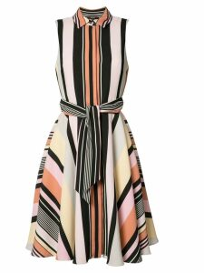 Badgley Mischka striped shirt dress - Multicolour