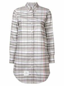 Thom Browne check shirt dress - Grey