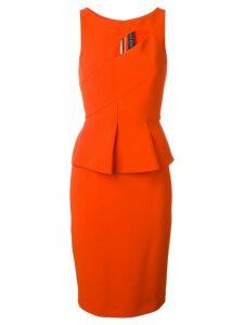 Roland Mouret cut-out detail dress - Red