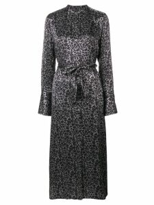 Equipment Connell leopard-print maxi dress - Grey