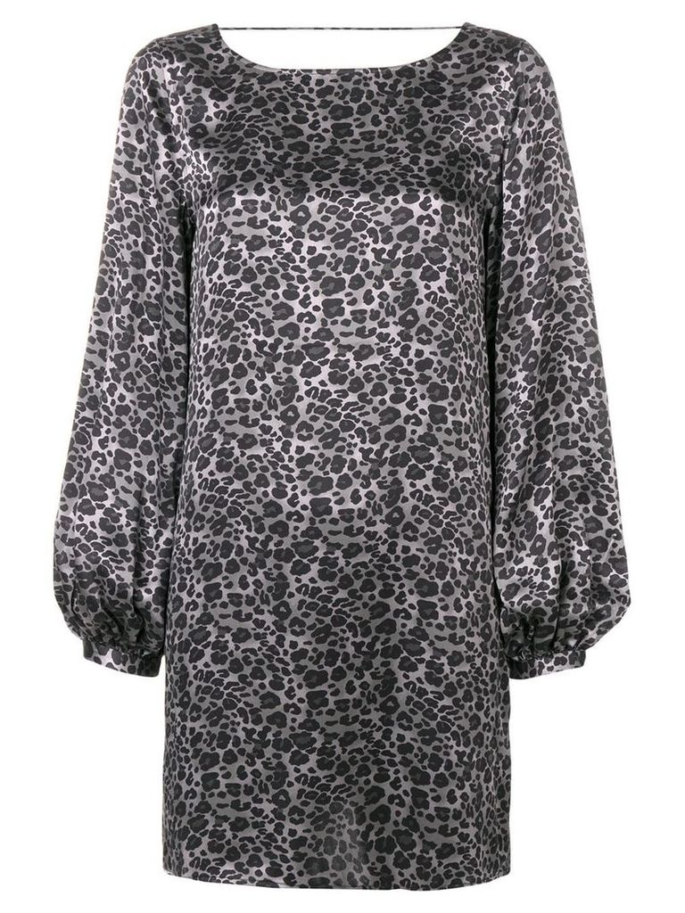 Equipment Zipporah leopard print dress - Grey