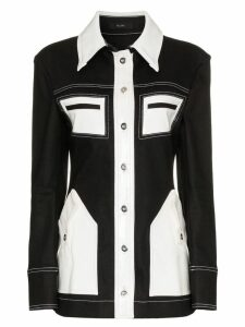 Ellery Spector contrast denim jacket - Black