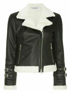 Guild Prime shearling biker jacket - Black