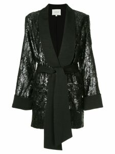 Layeur Renee sequin embellished blazer - Black