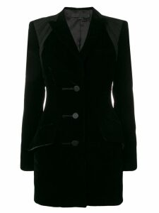 Alexander Wang ruche detailed blazer - Black