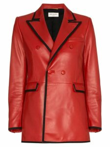 Saint Laurent double breasted blazer - Red
