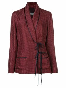 Raquel Allegra polka dot wrap blazer - Red
