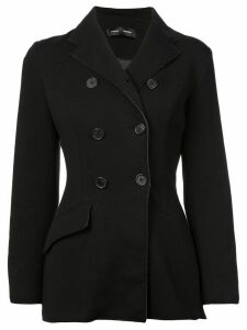Proenza Schouler Bonded Jersey Double Breasted Blazer - Black