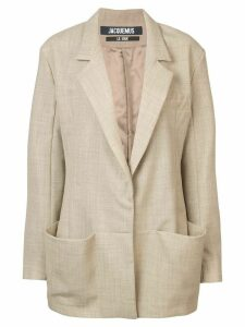 Jacquemus oversized pocket blazer - Neutrals