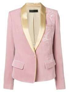 Haider Ackermann embroidered blazer - Pink