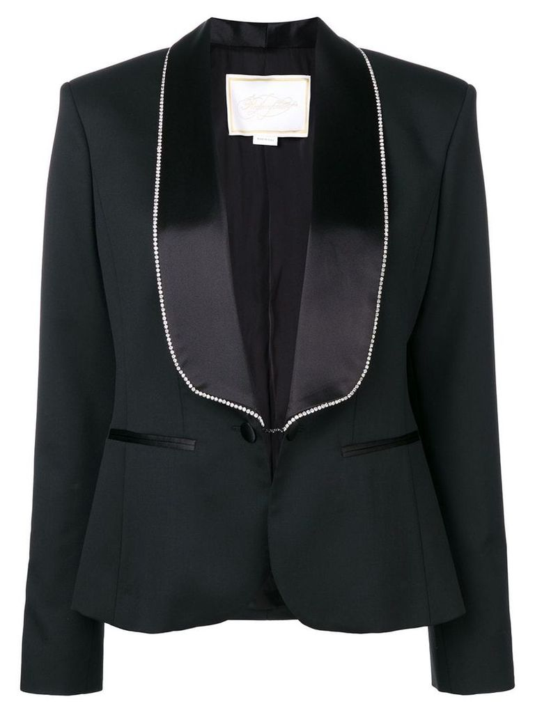 Redemption crystal embellished lapel and cuffs blazer - Black