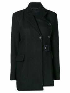 Rokh belted layered blazer - Blue
