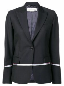 Golden Goose contrast stripe blazer - Blue