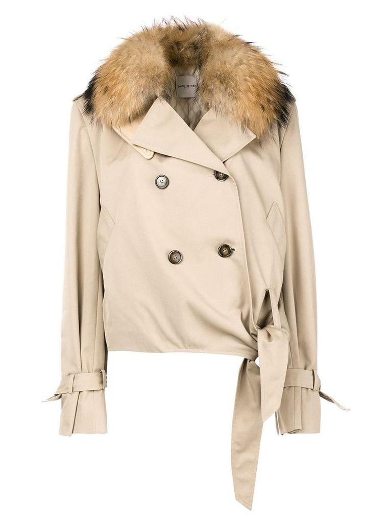 Each X Other fur collared jacket - Neutrals
