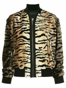 Haider Ackermann tiger stripe bomber jacket - Brown